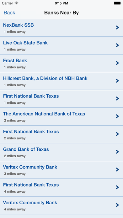 ICBA Community Bank Locator screenshot two