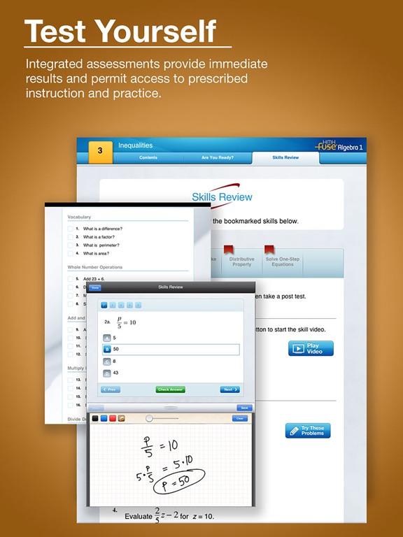 HMH Fuse: Algebra 1, Common Core Edition iPad