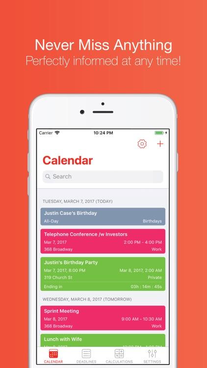 DayCalc Calendar