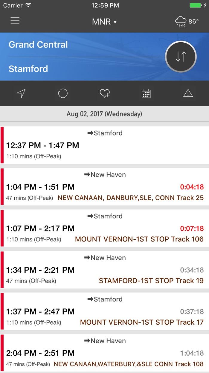onTime : MNR - MetroNorth Rail Screenshot