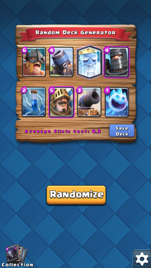 Random Decks for Clash Royale on the App Store