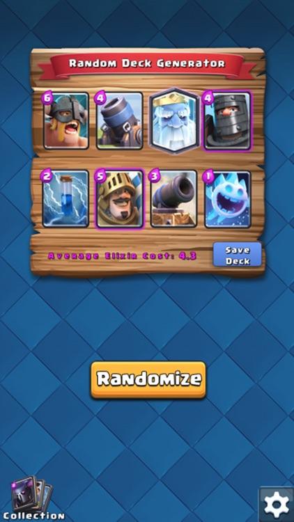Random Decks for Clash Royale