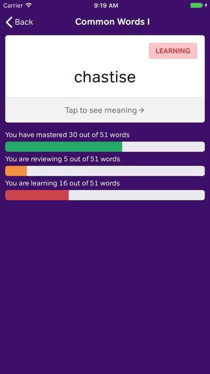 GRE Vocabulary Flashcards screenshot-3