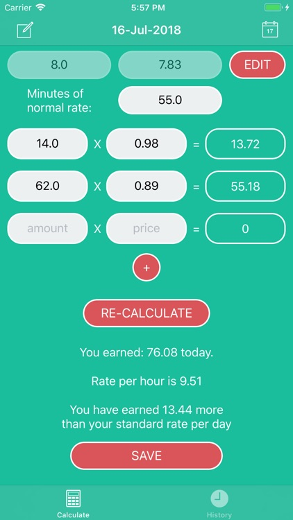 PiecePay: Piecework Calculator screenshot-5