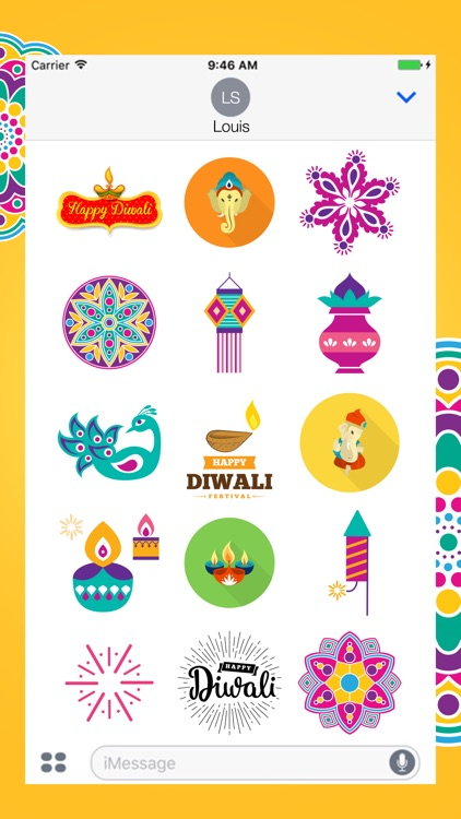 Diwali Stickers Pack For iMessage