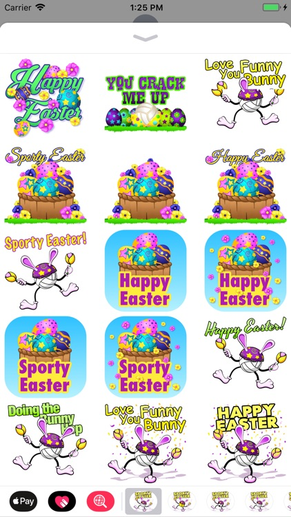Easter Volleyball Stickers