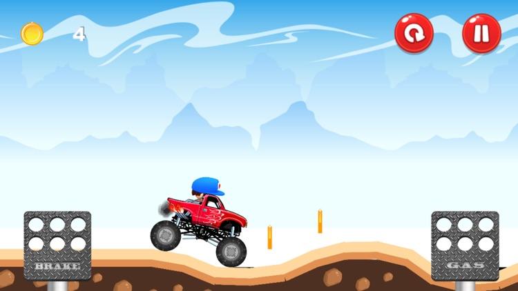 Monster Truck - Hill Racing screenshot-3