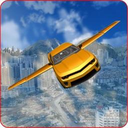 Fly Futuristic Car In Air