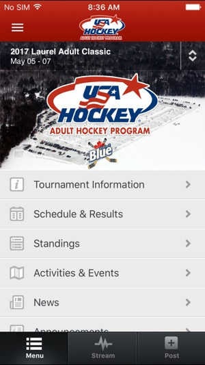 usa hockey adult events on the app store. Black Bedroom Furniture Sets. Home Design Ideas