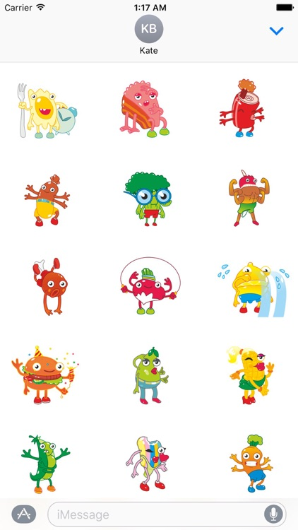 Animated Mutant Foods Sticker