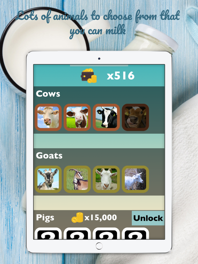 ‎Milk it! Cows goats elephants dogs and zoo animals Screenshot