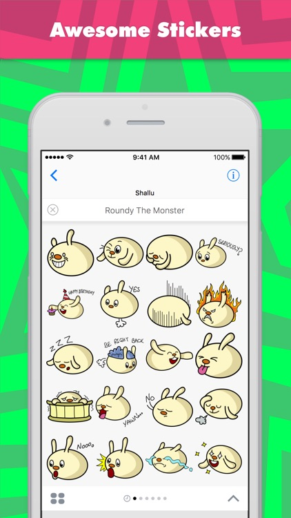 Roundy the Monster stickers