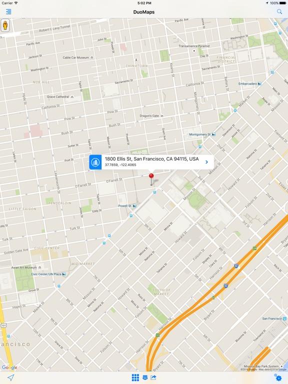 DuoMaps Directions & Traffic Screenshots