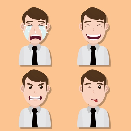 Men Expressions Stickers