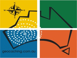 Geocaching Australia stickers