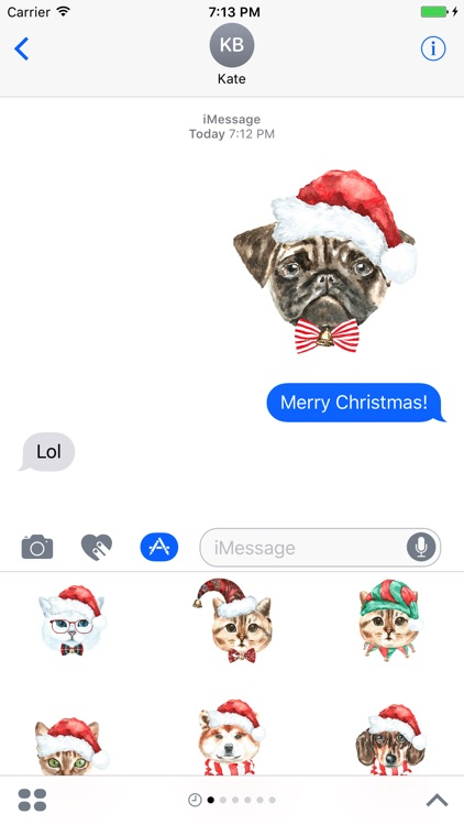 Xmas Pals - Cat and dog emojis