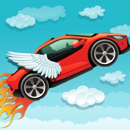 Sky Car Chase Racer Adventure Free - Escape Run From Monster Fire Balls!