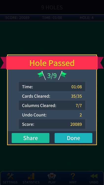 Golf Solitaire Pro. screenshot-2