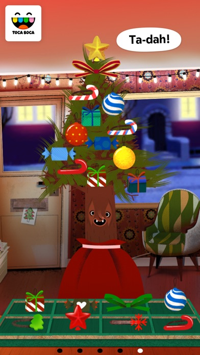 Screenshot for Toca Hair Salon - Christmas in United States App Store