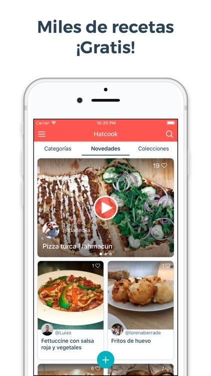 Hatcook Recetas de Cocina screenshot-0