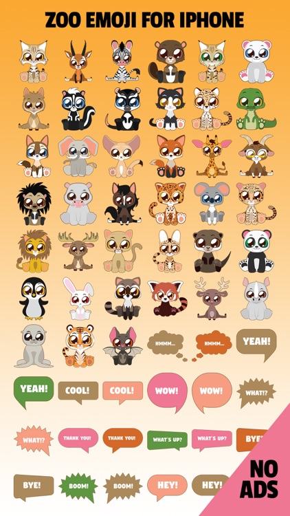 ZooMoji - New 2017 Zoo Animals Stickers Emoji App