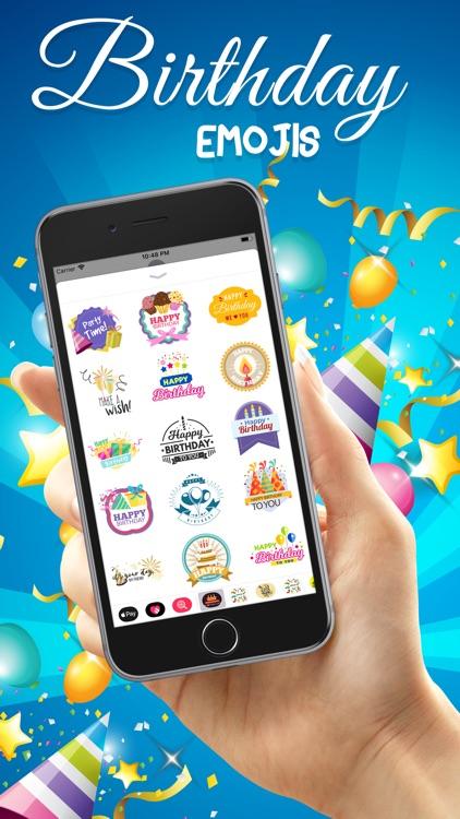 Birthday Emojis Stickers screenshot-3