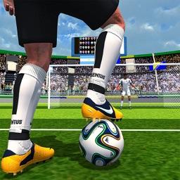 Fun soccer kick shoot goal