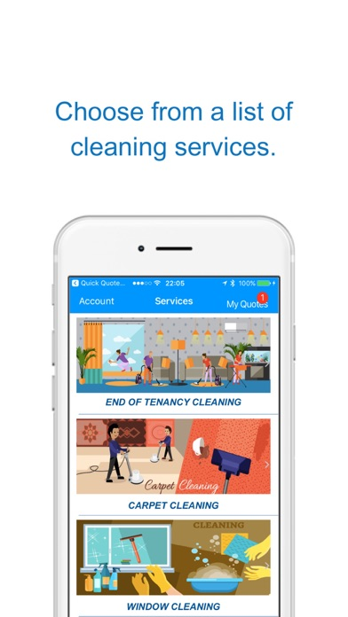 Quote4u - Cleaning On-Demand screenshot one
