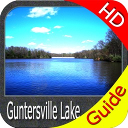 Lake Guntersville map HD GPS fishing charts