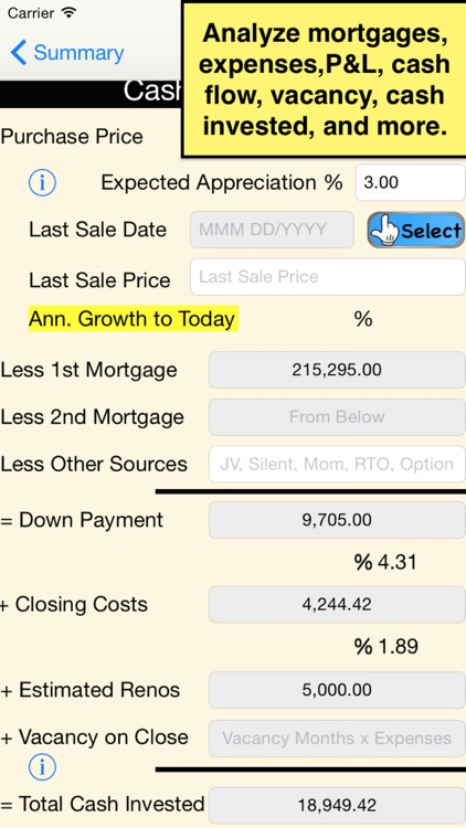 GoldMine Rental Analyser - USA