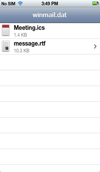 Screenshot for Winmail File Viewer in Finland App Store