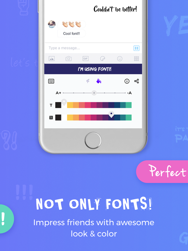 Fonti - Font Keyboard: cool fonts, colors & themes Screenshot