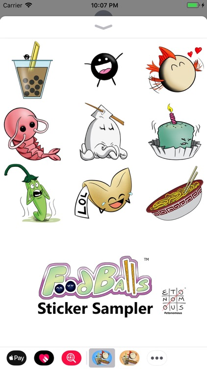 FoodBalls Sticker Sampler