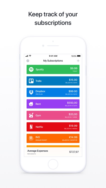 Bobby - Track subscriptions screenshot-0