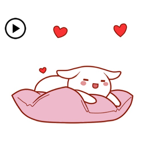 Animated Lovely Bunny Sticker