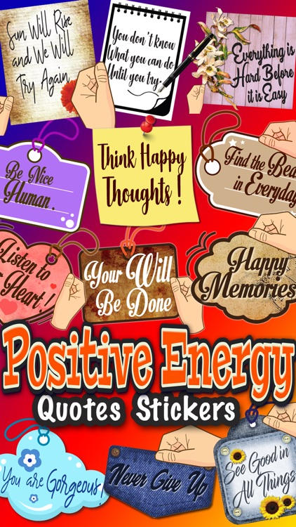 Positive Energy Quotes Sticker