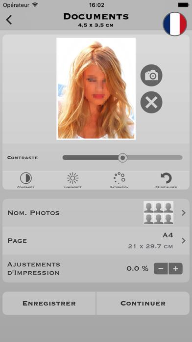 Screenshot #1 pour Photos d'identité Pro