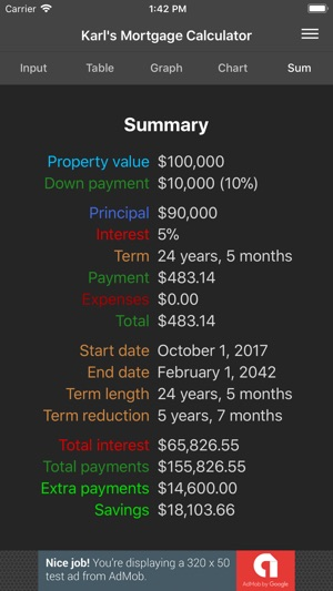 Karl\u0027s Mortgage Calculator on the App Store