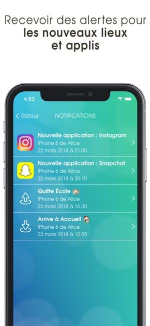 controle parental iphone localisation francais
