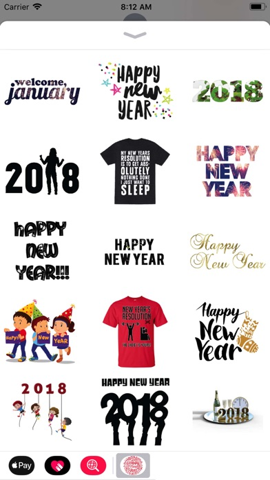 New Year Wishes Animated Pack - App - Mobile Apps