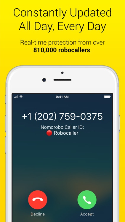 Nomorobo Robocall Blocking screenshot-1