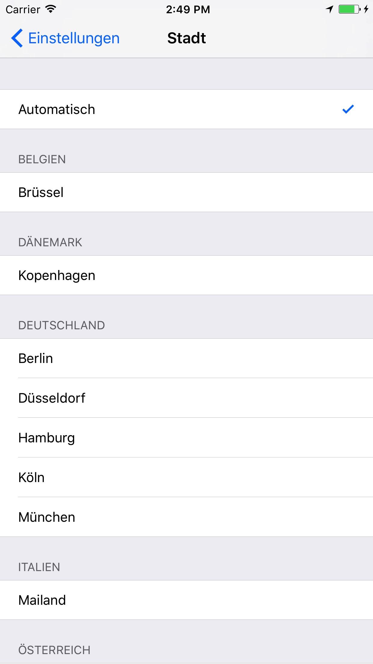 DriveNow Car Finder Screenshot
