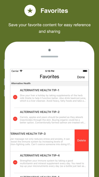 201 Tips for Healthy Living screenshot-3