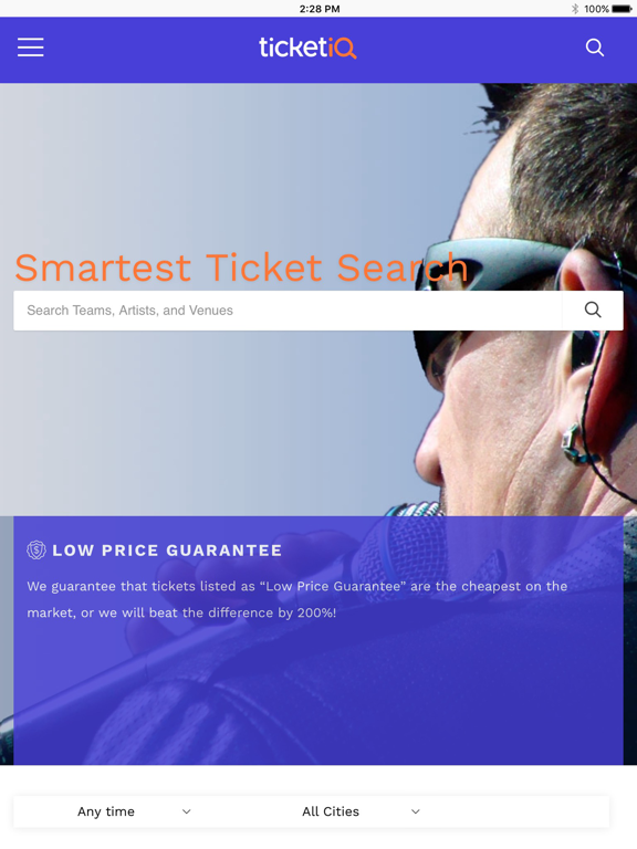 TicketIQ | Best Deals For Sports, Concerts and Broadway events. Save up to 10% off tickets with IQ rewards screenshot