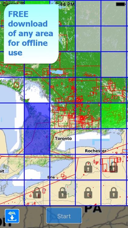 Aqua Map Ontario Lakes GPS HD screenshot-4