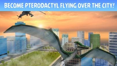 Pterodactyl Dino City Attack Simulator 3D screenshot one