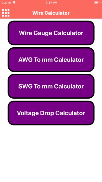 Wire Calculator App Ipod Iphone Ipad And Itunes Are