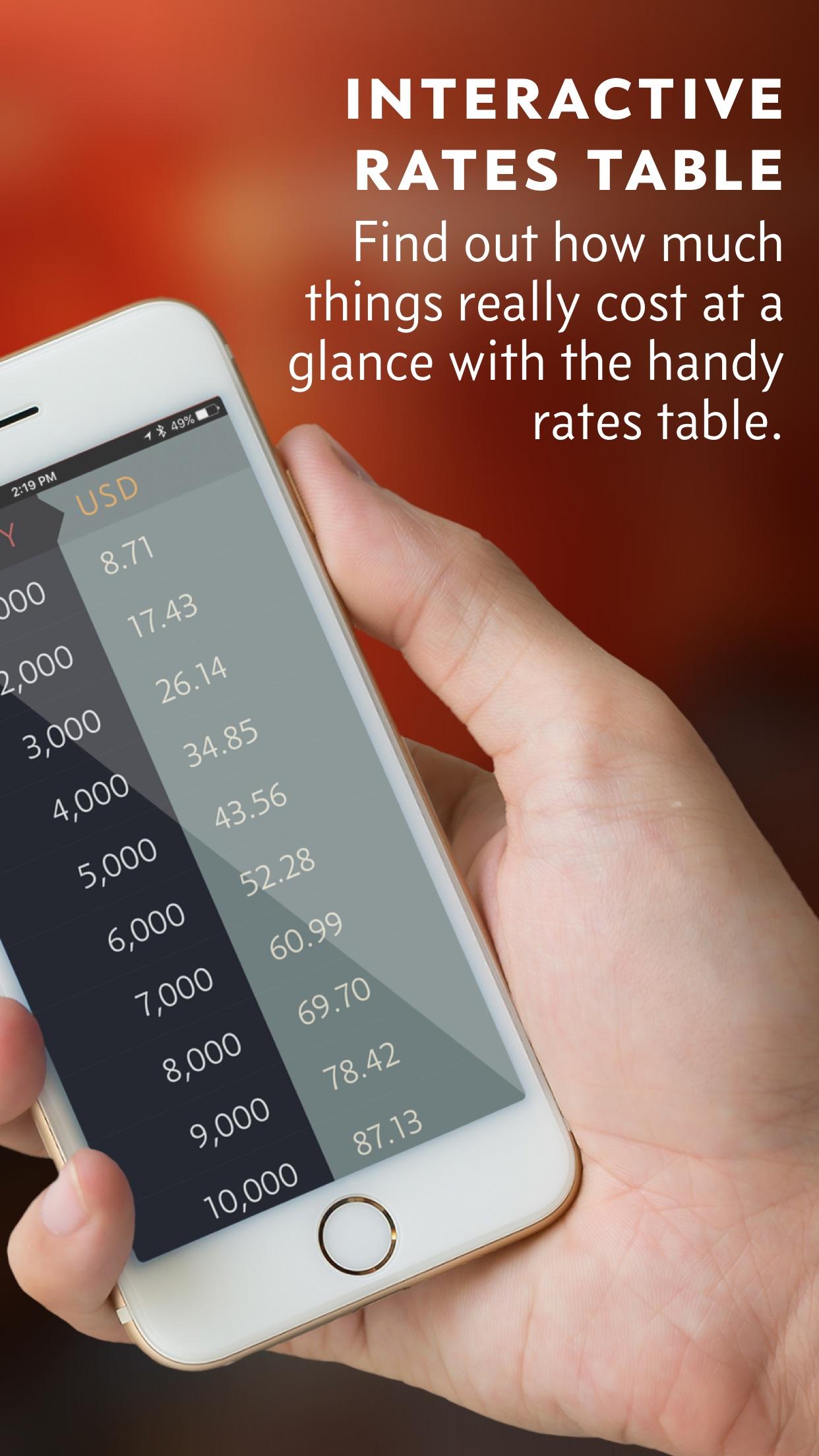 Screenshot do app Elk - Conversor de Moedas