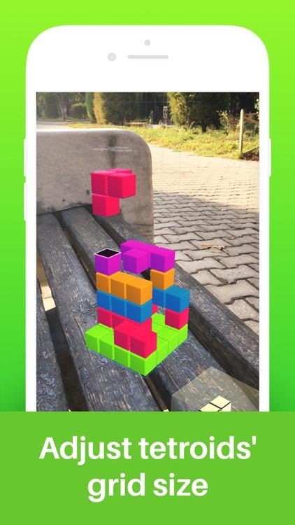 Tetroids AR Puzzle Game screenshot-4
