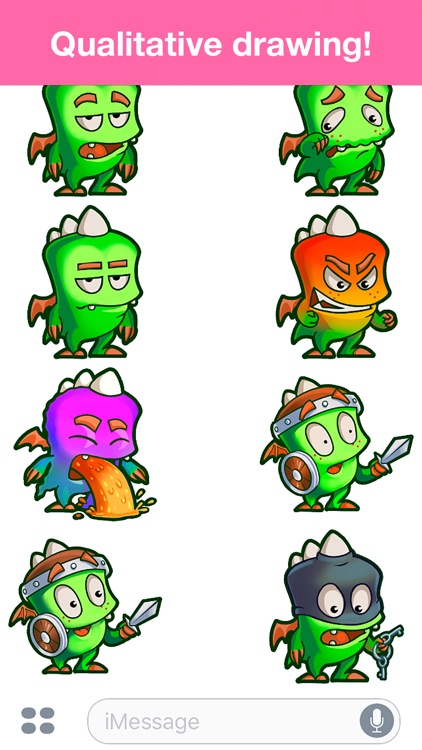 Droll Dragon - Cute stickers screenshot-3